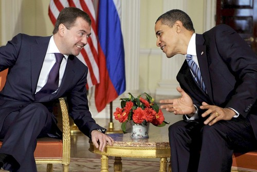Barry Hearts Dmitry: Move Over Trump, Obama Bromanced a Russian President Before It Was Cool