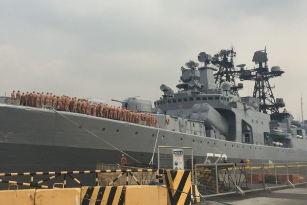 Russian Warships Drill With the Philippine Navy en Route to China's Naval Parade