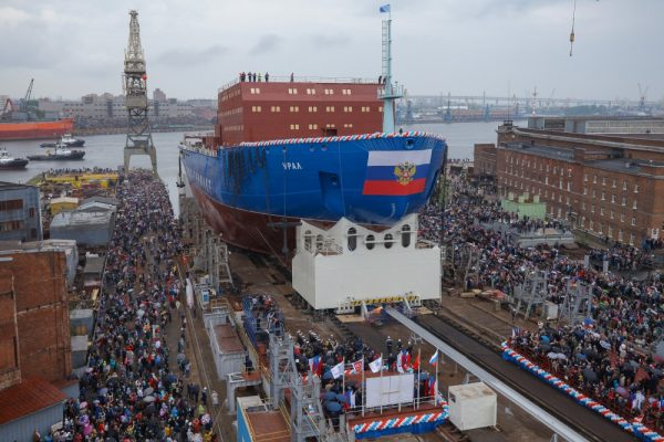 Russia Launches Third Massive Nuclear Icebreaker in Four Years