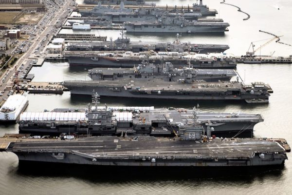 Every Single US East Coast Aircraft Carrier Is Docked for Repairs