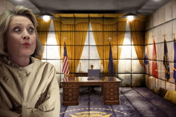 Asylum Orderlies Return Hillary Clinton to Padded Cell Disguised as Oval Office
