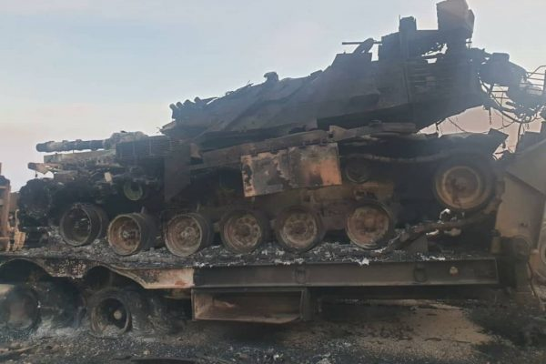Photos Surface of the Turkish Army Convoy Devastated by Syrian Artillery Last Week