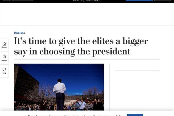 Regime Media This Week: More Power to Elites, Russia Invading Ireland, Putin Fears Bernie, Regime-Change Iraq Again