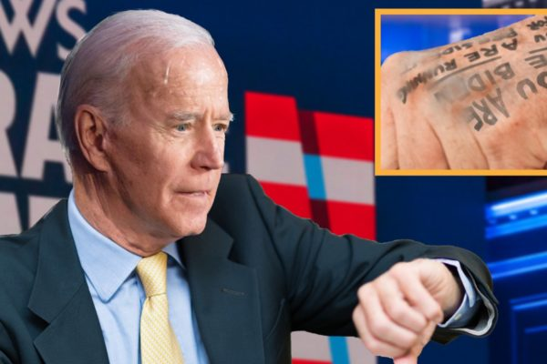 Disaster at Rally as Biden Smudges Note on Hand Reading, 'You Are Joe Biden and You Are Running for President'